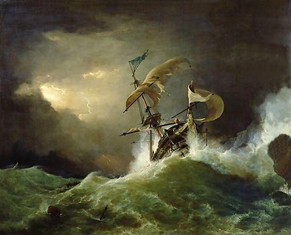 Un marin malchanceux perdu sur une mer déchirée.