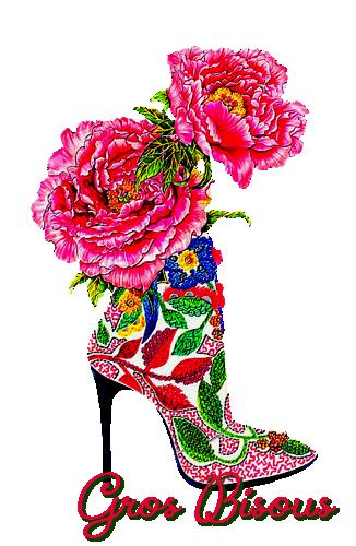 Bisous fleuris**Cartes - Bienvenue chez Sellena