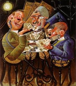 Les joueurs de carte de Otto DIX