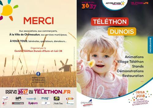 Programme du Téléthon Dunois 2018