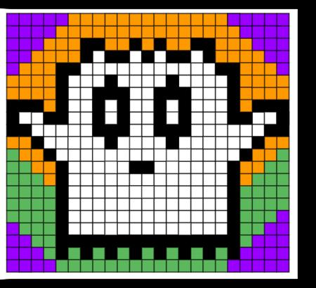 Halloween Pixel Art Capuchon A L Ecole