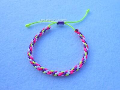 Bracelet Kumihimo Circulaire - 7 fils (3)
