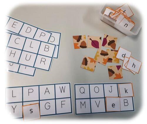 Jeux de correspondance des graphies des lettres