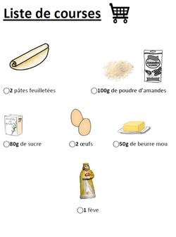 La recette de la galette en images!