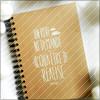 Trucs à faire/écrire dans un carnet