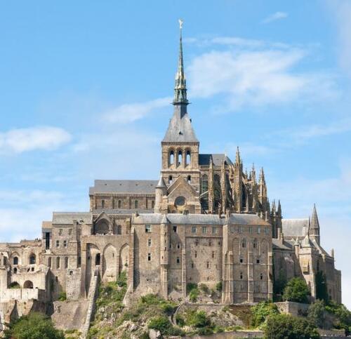 5- Mont-Saint-Michel: L'abbaye