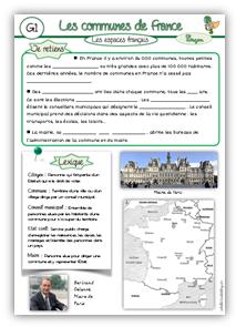 Géographie CM1 : les espaces français