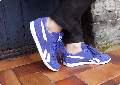 Reebok purple sneakers