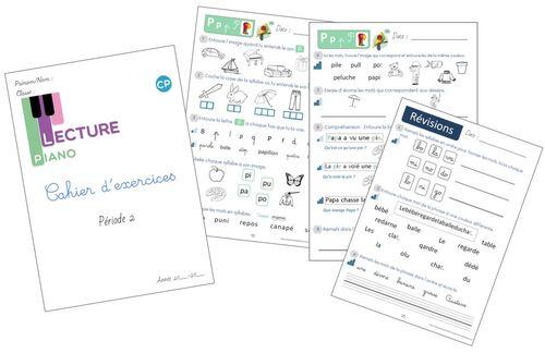 Cahier d'exercices Piano de la P2 version 2020-2021