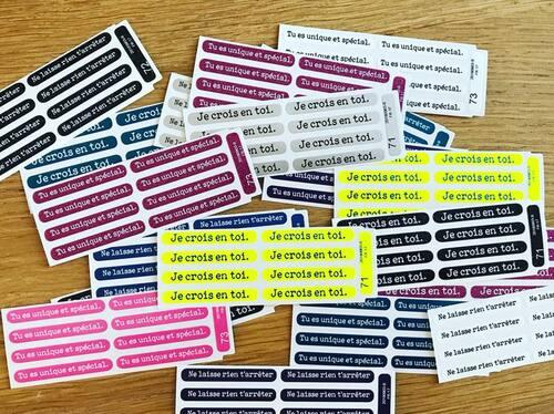 Étiquettes personnalisées pour nos élèves