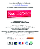 Mercredi 8 mars 2017, 18h - « Nos Héroïnes » - Bibliothèque de Cleunay à Rennes