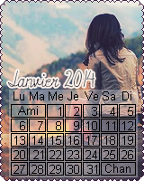 Calendriers Janvier 2014