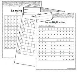 Tables De Multiplication Dix Mois