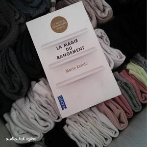 Tiroir à chaussettes rangé selon la méthode KonMari
