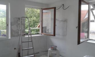 Le carrelage, les joints et la peinture