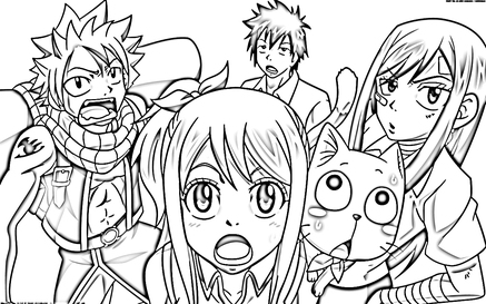 Coloriages Fairy Tail Lucy Et Fairy Tail