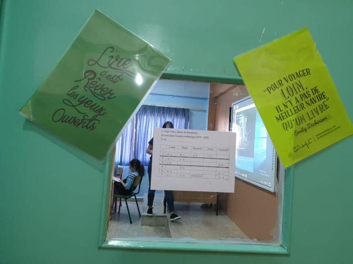 Une salle dédiée à la lecture dans le cycle primaire.
