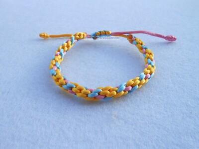 Bracelet Kumihimo Circulaire - 7 fils