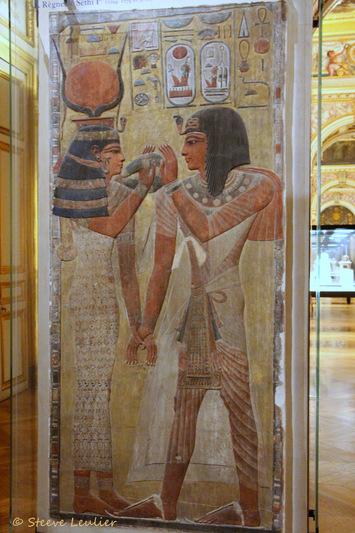 Nouvel Empire, XIXe dynastie, La déesse Hathor et le roi Séthi Ier