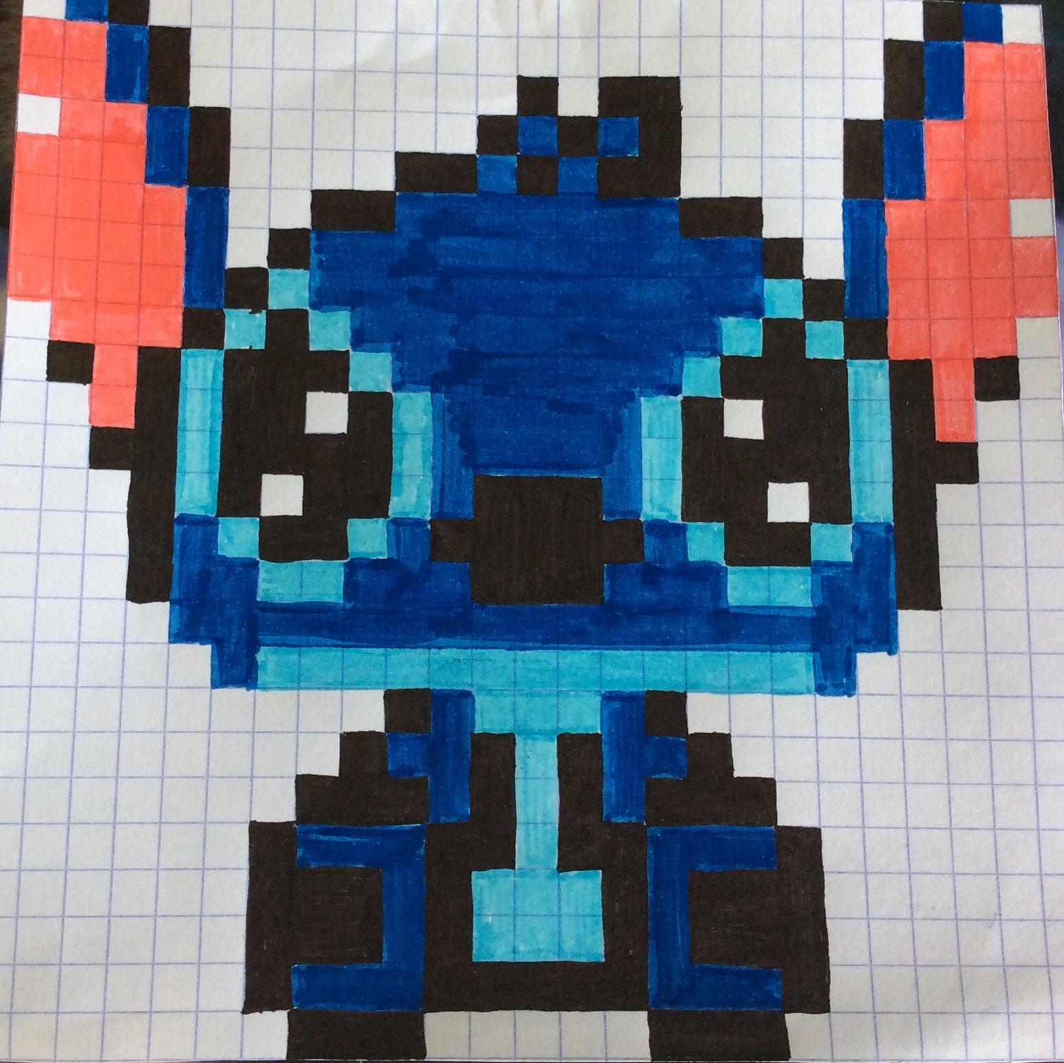 Pixel Art Stitch Facile Gamboahinestrosa