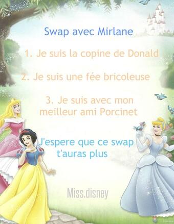 Swap virtuelle avec Mirlane ( thème Disney )