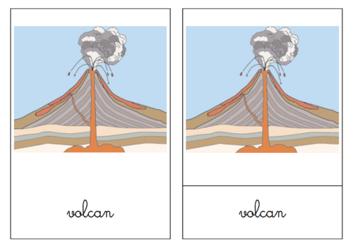 Structure d'un volcan