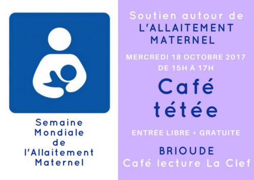 La Semaine Mondiale de l'Allaitement Maternel à Brioude le 18 octobre 2017
