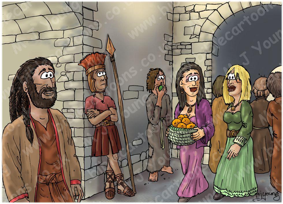 Judges 14 - Samson's marriage - Scene 01 - Samson in Timnah 980x706px col@250x140.jpg