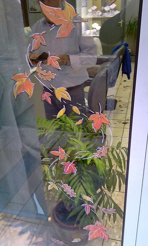 fresque sur vitre