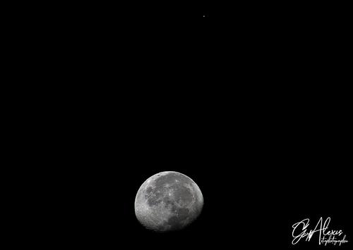 Rapprochement Lune/Mars le 6 septembre 2020