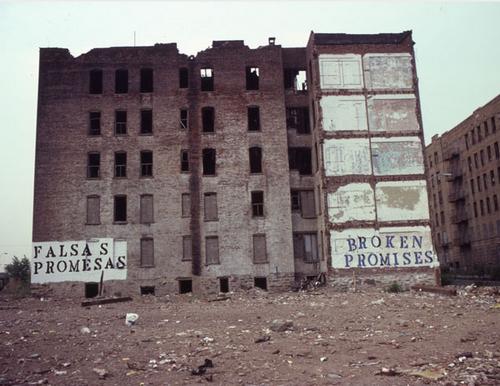 John Fekner, 1980, Bronx