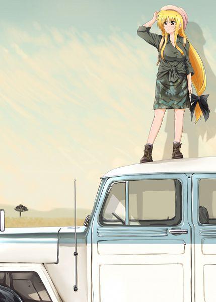 Tags: Anime, Diesel-Turbo, Mahou Shoujo Lyrical Nanoha StrikerS, Fate Testarossa, Mizuki Nana (Cosplay), PNG Conversion