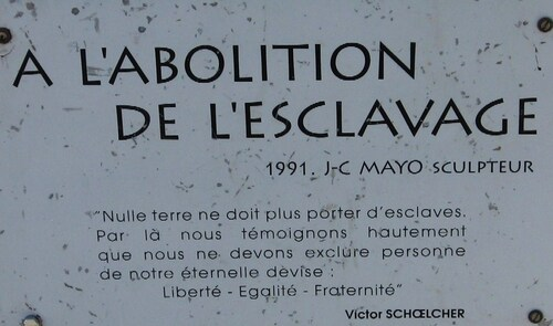 Monument MAYO à Saint Nazaire, Abolition de l'Escavage..