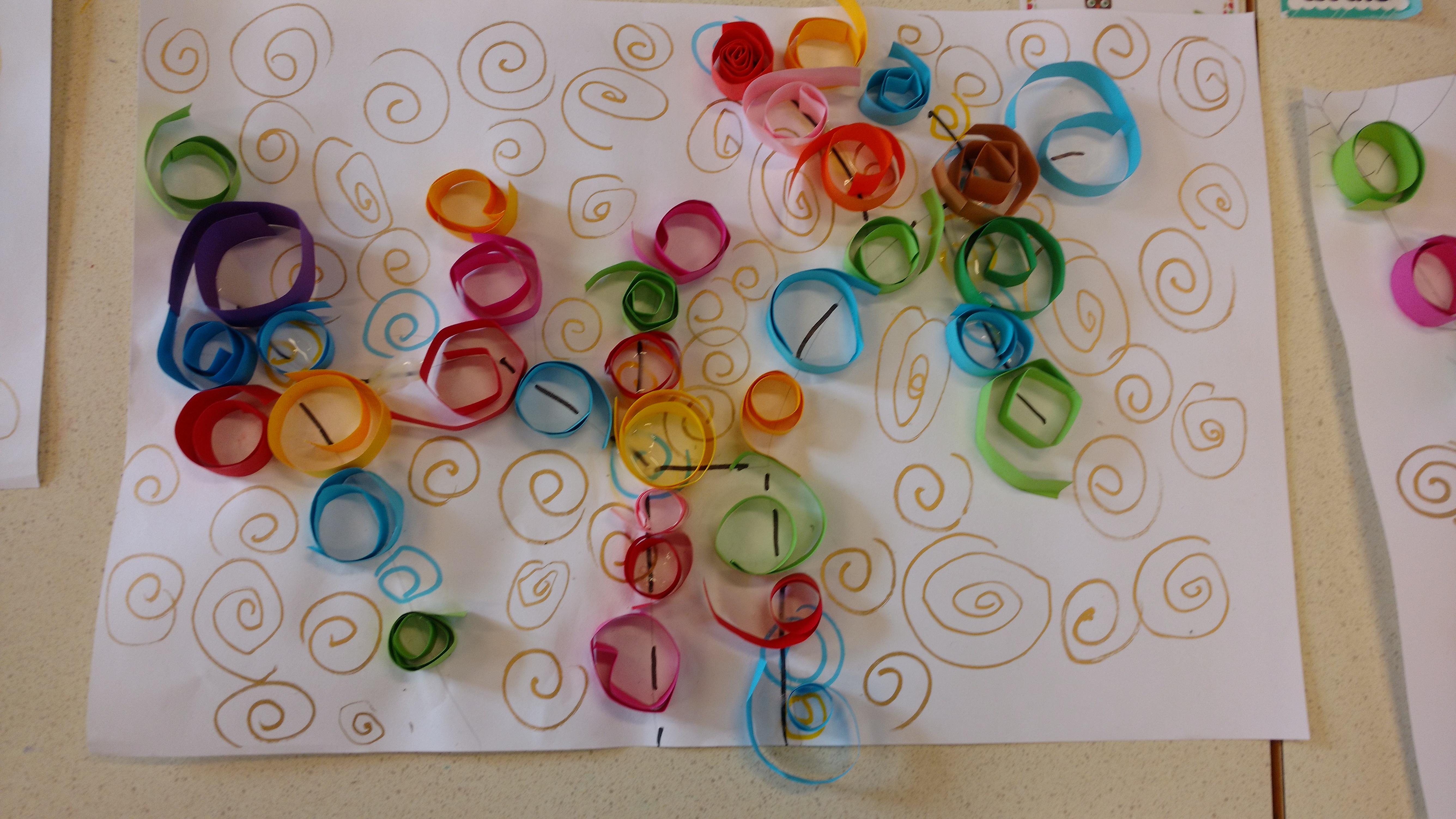 Klimt L Arbre De Vie Tableau collage et arts visuels - la classe de luccia !