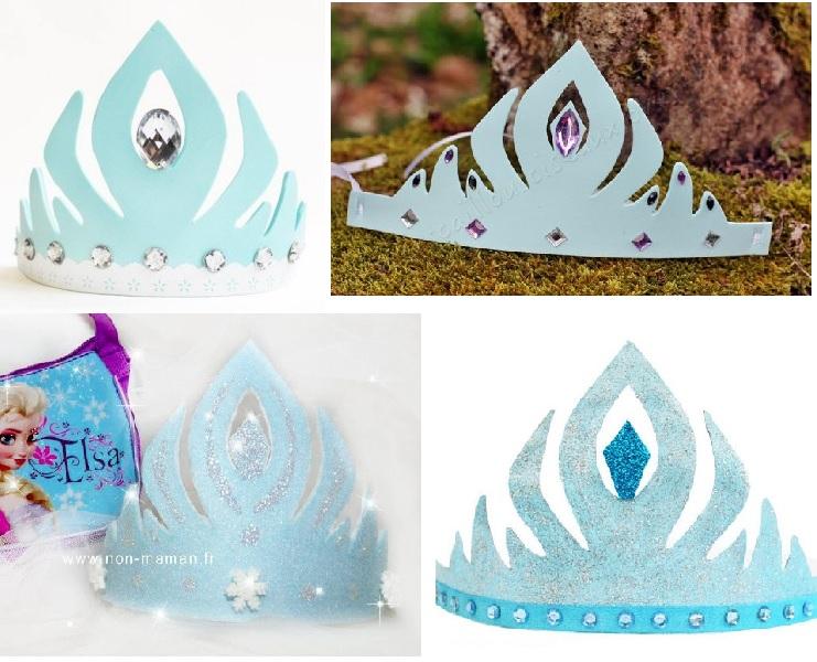 Diy 5 Couronnes Reine Des Neiges Frozen A Imprimer Et Decorer