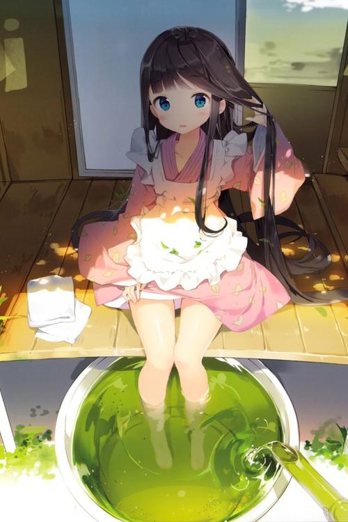 Image de manga fille brune - amandine-manga-bts