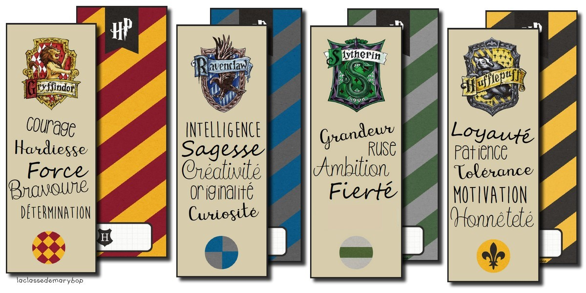 Harry Potter Marque Pages La Classe De Marybop