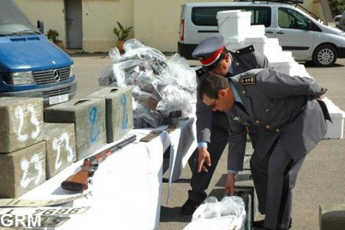 Saisie de 9 kilos de Chira par les gendarmes à Chefchaouen