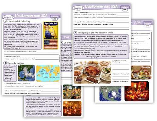 Anglais civilisation : l'automne aux Etats-Unis
