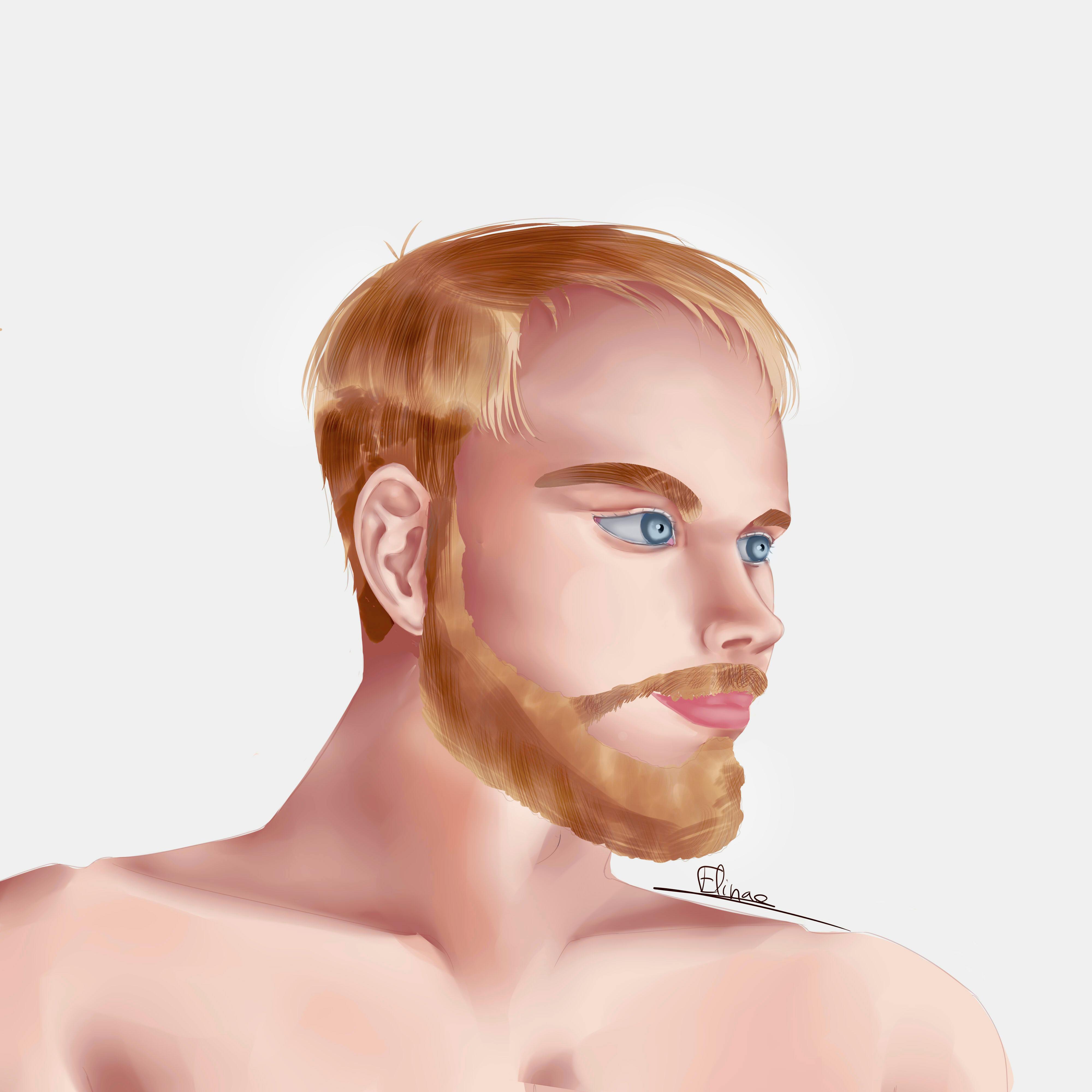 Portrait d'homme - essai painting