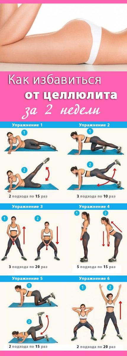 Как избавиться от целлюлита на ногах быстро упражнения
