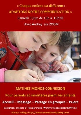 Matinée Monos-Connexion : 5 Juin 2021