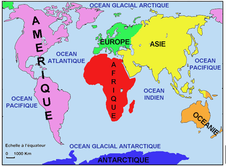 Bien-aimé Planisphère : océans, continents, lignes imaginaires - Blog de la  XF36