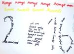 Calligrammes pour la nouvelle année