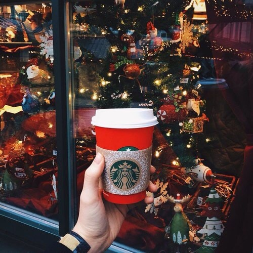 Image de christmas, starbucks, and winter