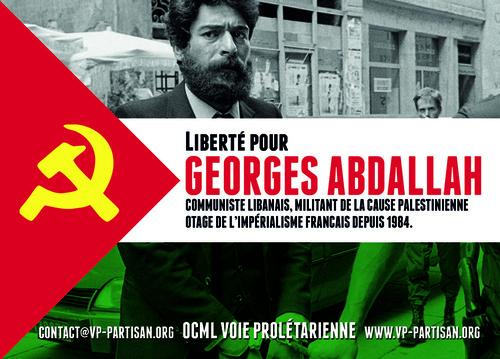 - Manifestation nationale pour la libération de Georges Abdallah - 22 juin 2019, 14h, Place des Fêtes PARIS