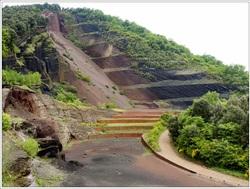 l'approche du volcan