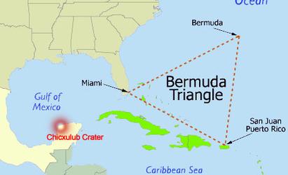 Map of Major Earth Vortex, the Bermuda Triangle