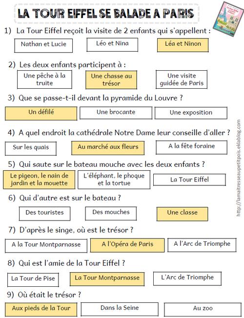Rallye lecture La tour Eiffel...