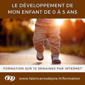 Formation parents et moniteurs - Développement enfants 0 à 5 ans
